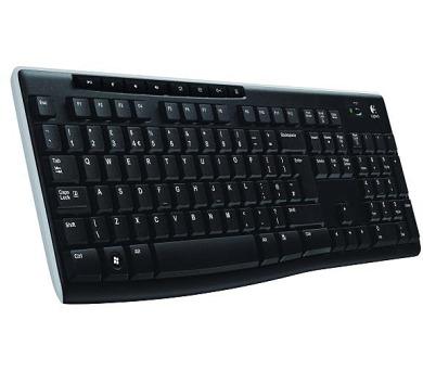 Logitech Wireless Keyboard K270 CZ - černá