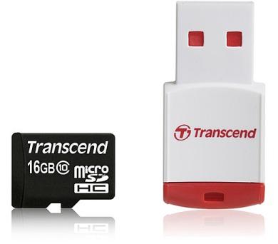 Transcend MicroSDHC 16GB Class10 + USB reader
