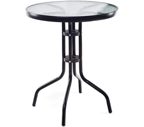 HAPPY GREEN Stůl kovový se skleněnou deskou 60 cm