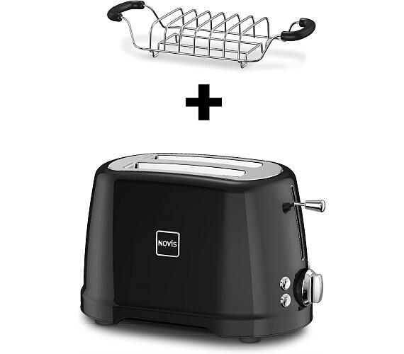 Novis Toaster T2 (černý) + mřížka na rozpékání ZDARMA