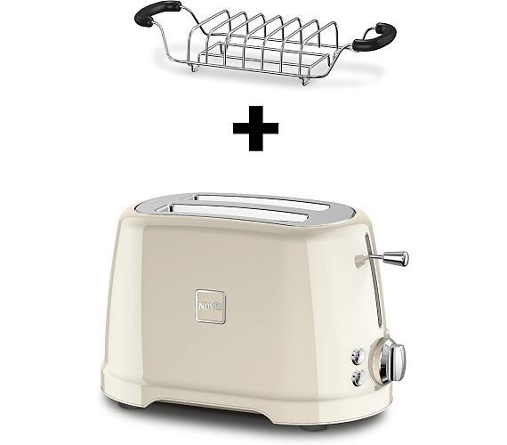 Novis Toaster T2 (krémový) + mřížka na rozpékání ZDARMA