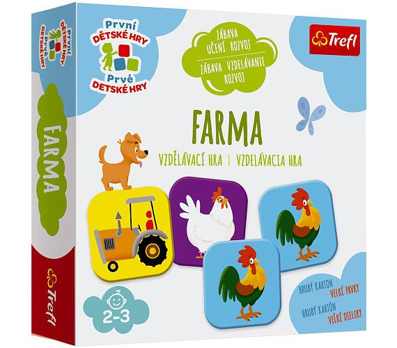 Farma vzdělávací společenská hra pro nejmenší v krabici 20x20x5cm 24m+