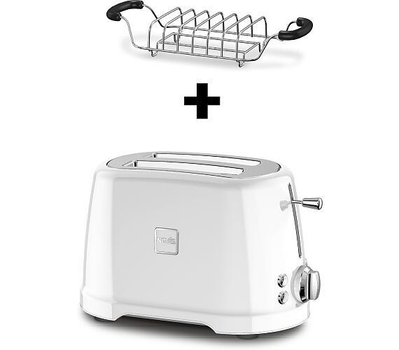 Novis Toaster T2 (bílý) + mřížka na rozpékání ZDARMA
