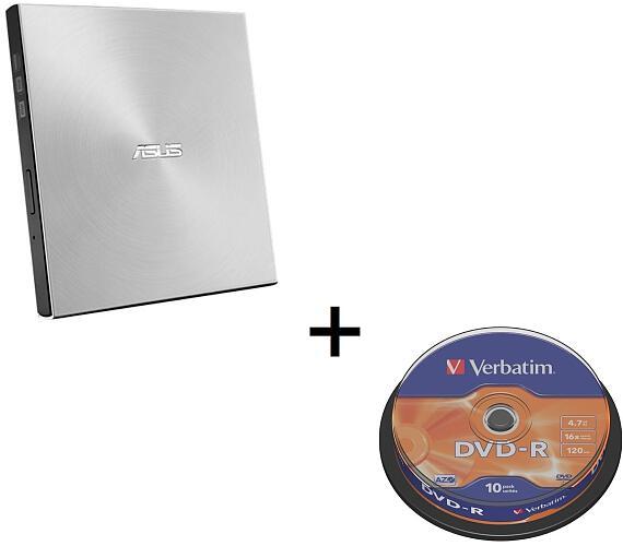 Asus SDRW-08U7M-U SILVER + 2× M-Disk + Verbatim DVD-R 10cake