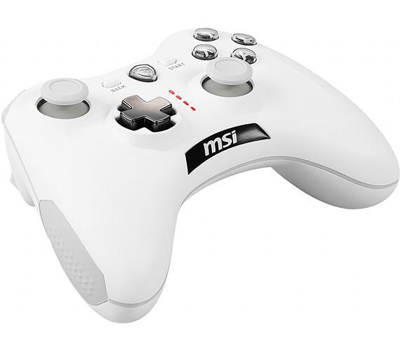 MSI gamepad FORCE GC30 V2 WHITE/ bezdrátový/ bílý/ OTG/ USB/ pro PC