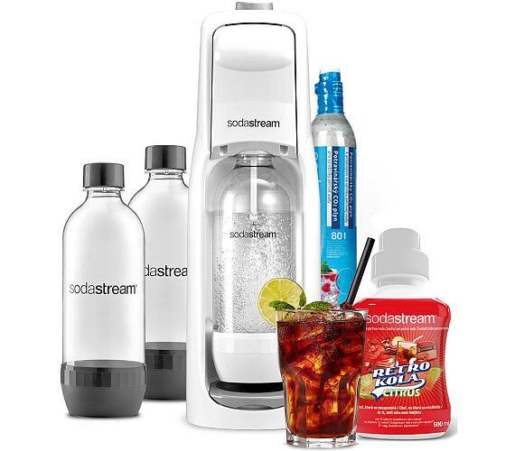 SodaStream JET WHITE + Lahev DuoPack 1l + Příchuť retro COLA citrus + DOPRAVA ZDARMA