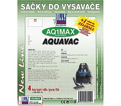 Jolly MAX AQ 1 (4+1ks) do vysav. AQUAVAC