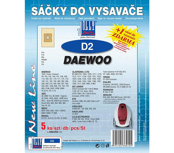 Jolly D 2 (5+1ks) do vysav. DAEWOO