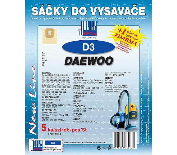 Jolly D 3 (5+1ks) do vysav. DAEWOO