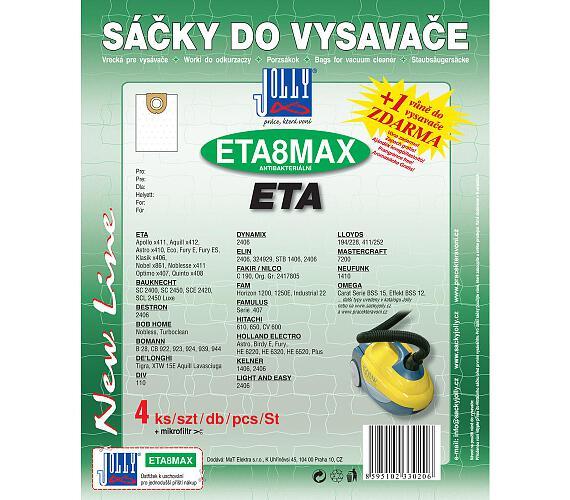 Jolly MAX ETA 8 (4+1ks) do vysav. ETA