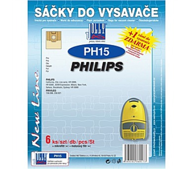 Jolly PH 15 (6+1+1ks) do vysav. PHILIPS
