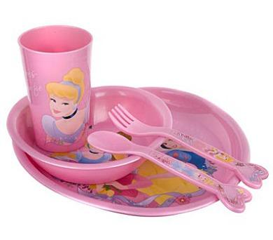 BANQUET Dětská jídelní plastová sada PRINCESS