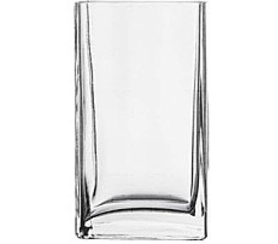PASABAHCE Váza skleněná hranatá FLORA 18 cm