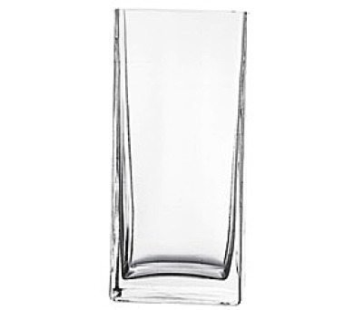 PASABAHCE Váza skleněná hranatá FLORA 22 cm