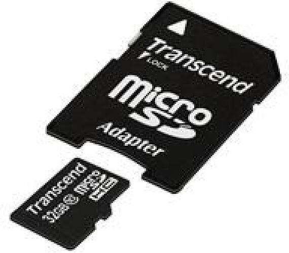 Transcend MicroSDHC 32GB Class10 + adapter + DOPRAVA ZDARMA