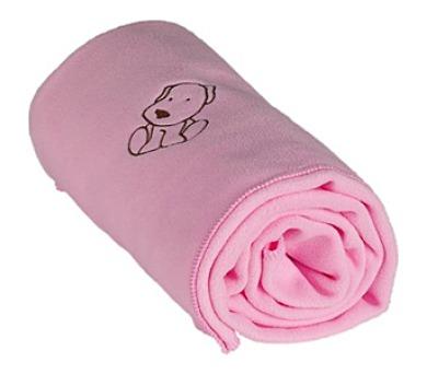 Kaarsgaren fleece s pejskem růžová