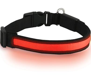 Obojek svítící syntetický popruh Dog Trace