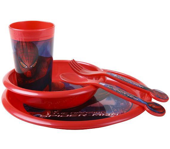 BANQUET Dětská jídelní plastová sada SPIDERMAN