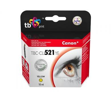 TB Canon CLI-521Y kompatibilní - žlutá