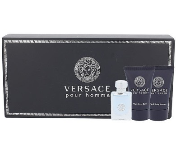 Versace Pour Homme 5ml + 25ml sprchový gel + 25ml balsam po holení