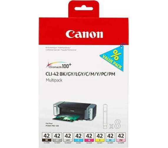 Canon CLI-42 Multi Pack originální - černá/šedá/červená/modrá/žlutá