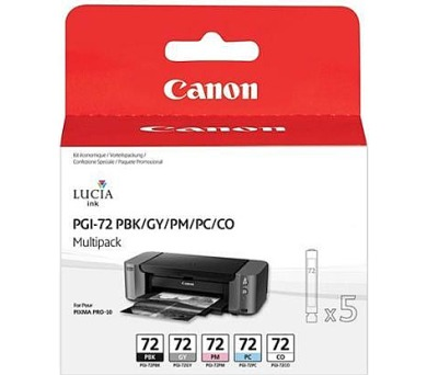 Canon PGI-72 MBK/C/M/Y/R originální - černá/červená/modrá/žlutá