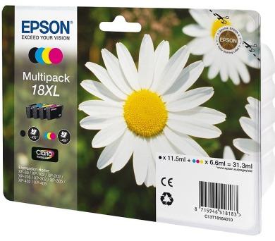Epson T1816 multipack XL originální - černá/červená/modrá/žlutá + DOPRAVA ZDARMA