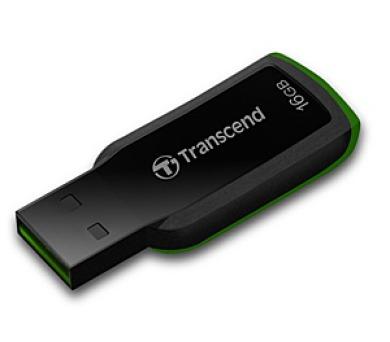 Transcend JetFlash 360 16GB USB 2.0 - černý/zelený + DOPRAVA ZDARMA