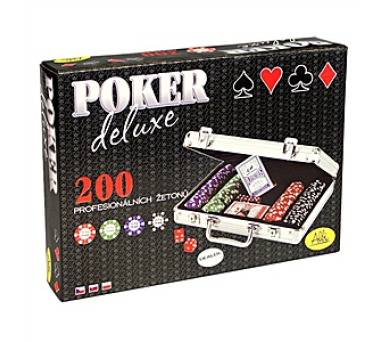 Poker deluxe (200 žetonů) + DOPRAVA ZDARMA