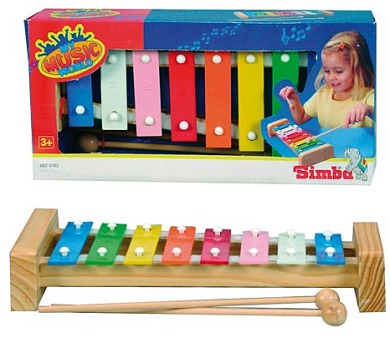Xylofon s 8 kovovými klávesami