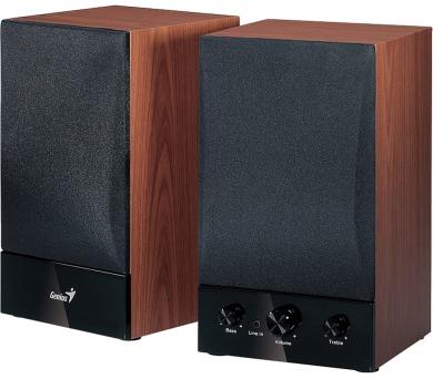 Genius SP-HF1250B 2.0 - černé/imitace dřeva