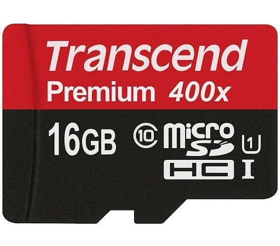 Transcend MicroSDHC Premium 16GB UHS-I U1 (45MB/s)