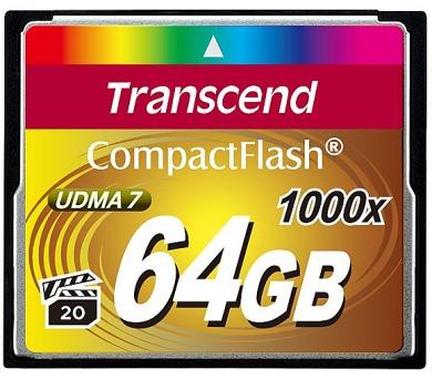 Transcend Ultimate CF 64GB 1000x + DOPRAVA ZDARMA