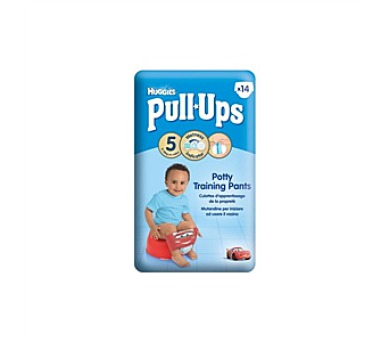 Plenky HUGGIES® Pull Ups Medium - Boys 14-18 kg