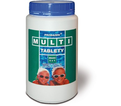 Bazénová chemie V-Garden Multi tablety maxi 5 v 1 PE dóza 2,4 kg + ZÁRUKA 3 roky!