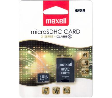 Maxell MicroSDHC 32GB CL10 + adpt 854718