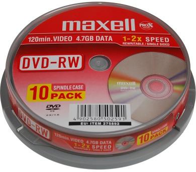 DVD-RW 4,7GB 2x 10SP 275892 maxell
