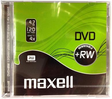 DVD+RW 4,7GB 4x 1PK JC maxell