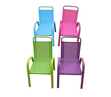HAPPY GREEN Dětská zahradní židle stohovatelná assort barev modrá