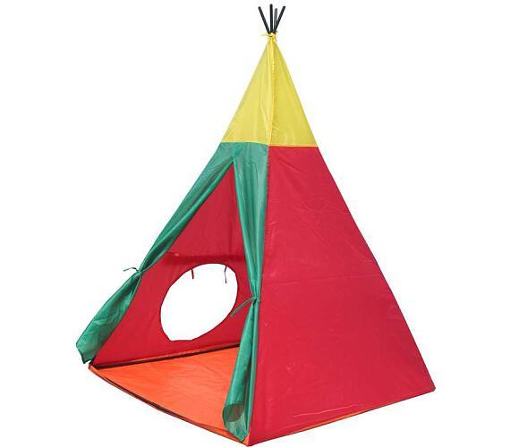 JOY PARK Dětský stan Indian I - červeno-žluto-zelený