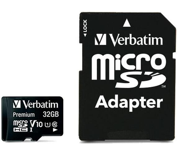 Verbatim micro SDHC 32GB Class 10 + adapter