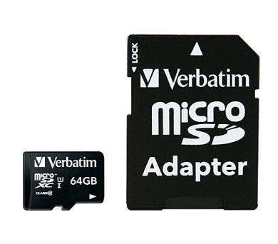 Verbatim micro SDXC 64GB Class 10 + adapter