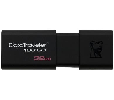 Kingston DataTraveler 100 G3 64GB USB 3.0 - černý + DOPRAVA ZDARMA