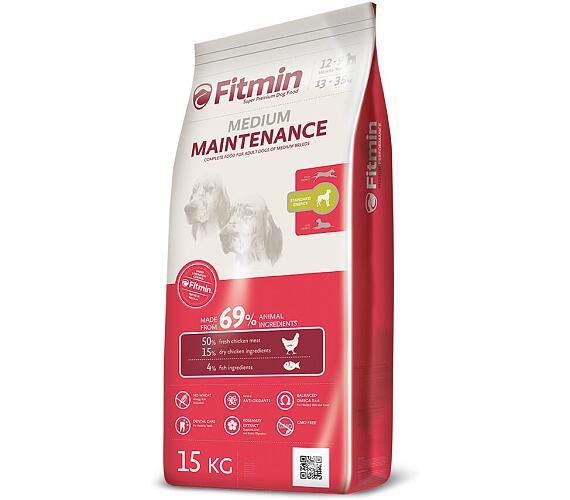 FITMIN dog Medium Maintenance 15 kg + plyšová hračka Myš
