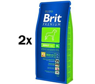 Brit Premium Dog Adult XL 2 x 15 kg + DOPRAVA ZDARMA