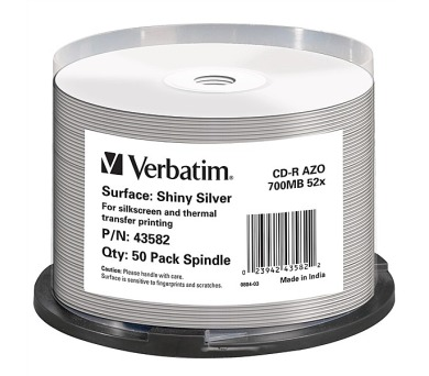 Verbatim CD-R Thermal Printable 52x DLP 50ks spindl