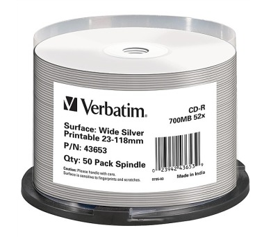 Verbatim CD-R Printable 52x DLP 50ks spindl