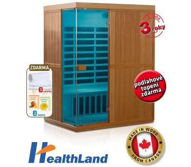 HealthLand DeLuxe 3300 Carbon - BT + Záruka 3 roky + DOPRAVA ZDARMA