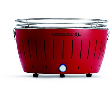 LotusGrill XL Red - 44cm + taška na gril a sada baterií AA