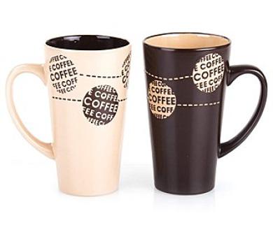 BANQUET Hrnek keramický vysoký COFFE 450 ml